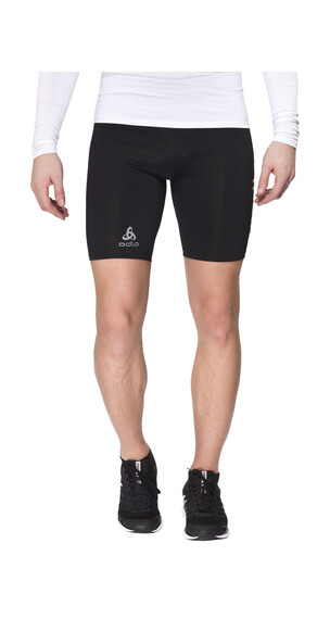 Odlo Sliq 2.0 Tights short Men black/silver